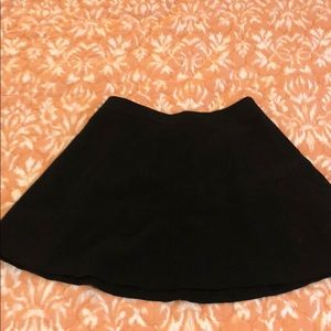 LOFT black skirt with zip back detail size 8